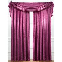 Laurence Llewelyn-Bowen Curtain Call Velvet-effect Pencil Pleat Curtains 220 x 182 cm