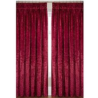 Laurence Llewelyn-Bowen Curtain Call Velvet-effect Pencil Pleat Curtains 109 x 229 cm