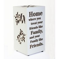 Novelty Wooden Message Lamp - Family