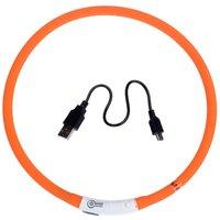 USB Dog Glow Collar - Orange (65cm)