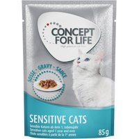 Concept for Life Sensitive Cats in Gravy - 48 x 85g