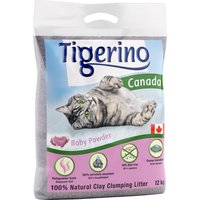 Tigerino Canada Cat Litter - Babypowder Scented - 12kg