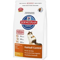 Hills Science Plan Adult Cat Hairball Control - Chicken - Economy Pack: 2 x 5kg