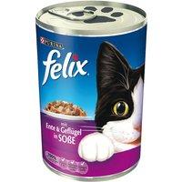 Felix Chunks in Gravy 6 x 400g - Beef & Turkey