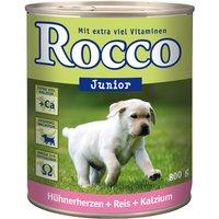 Rocco Junior Saver Pack 24 x 800g - Beef & Calcium