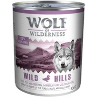 Wolf of Wilderness Adult Saver Pack 12 x 800g - Oak Woods - Wild Boar