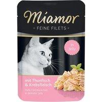 Miamor Fine Fillets in Jelly Saver Pack 24 x 100g - Tuna in Salmon Jelly