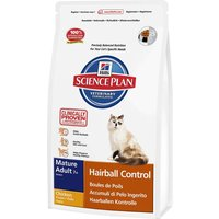 Hills Science Plan Mature Cat 7+ Hairball Control - Chicken - Economy Pack: 2 x 1.5kg