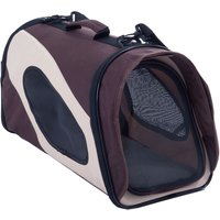 Pet Carrier - Brown / Beige - Size L: 52 x 26 x 29 cm (L x W x H)