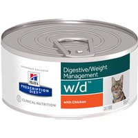 Hills Prescription Diet Feline - w/d - 12 x 156g cans