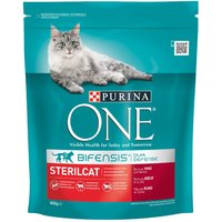 Purina ONE Sterilcat Beef & Wheat Dry Cat Food - Economy Pack: 2 x 3kg