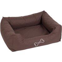 Strong & Soft Dog Bed - Brown - 80 x 65 x 25 cm (L x W x H)