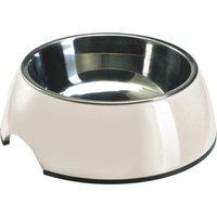 Hunter Melamine Dog Bowl - White - 0.16 litre