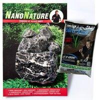 NanoNature Leopard Rock Set - 5 rocks + 3 litres NatureSoil brown, fine