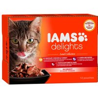 IAMS Delights Adult Land Collection - Land Collection in Gravy (12 x 85g)