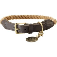 Hunter List Rope Collar - Beige - Size 50: 41-49cm neck circumference
