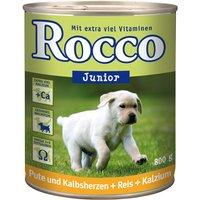 Rocco Junior 6 x 800g - Poultry, Game, Rice & Calcium