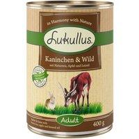 Lukullus Saver Pack 12 x 400g - Wild Rabbit & Turkey