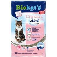 Biokats Classic Fresh 3in1 Cat Litter - Baby Powder Scent - Economy Pack: 2 x 10l