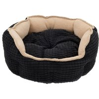 Cozy Kingdom Snuggle Bed - Black / Beige - 80 x 60 x 25 cm (L x W x H)