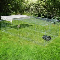 Metal Run with escape barrier - 200 x 100 x 60 cm (L x W x H)