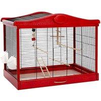 Lena Bird Cage - Red - 77 x 42 x 59 cm (L x W x H)