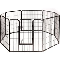 Metal Run for Small Pet & Puppies 8 Sided - 8 Elements, each 80 x 80 cm (L x H)