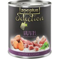 zooplus Selection Senior & Light Chicken - 6 x 400g