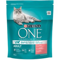 Purina ONE Adult Salmon & Whole Grains Dry Cat Food - Economy Pack: 2 x 3kg