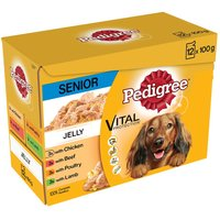 Pedigree Senior Pouch in Jelly Multipack - Saver Pack: 24 x 100g