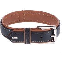Hunter Canadian Dog Collar - Black / Cognac - Size 60