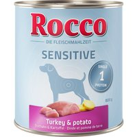 Rocco Sensitive 6 x 800g - Turkey & Potatoes