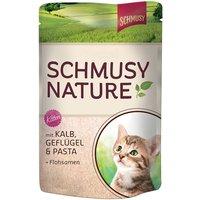 Schmusy Nature Pouches 12 x 100g - Chicken, Salmon, Pasta & Brewers Yeast