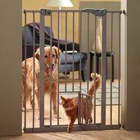 Savic Dog Barrier 2 with Cat Door - Height 107cm, Width 75 -84cm