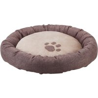 Basic Round Bed - Brown / Beige - Diameter 70cm