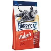 Happy Cat Indoor Adult Beef Dry Food - Economy Pack: 2 x 4kg