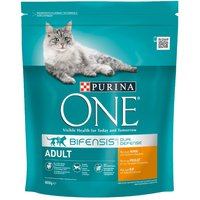Purina ONE Adult Chicken & Whole Grains Dry Cat Food - Economy Pack: 2 x 3kg