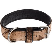 Heim Cork & Leather Tiger Dog Collar - Size 40