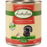 Lukullus Wild Rabbit & Turkey - 6 x 400g