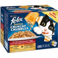 Felix Sensations Crunchy Crumbles 10 x 100g - Meat Selection