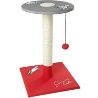 Simons Cat Scratching Post with Platform - Red & Grey