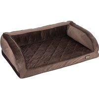 zoolove Wellness Snuggle Sofa - Brown - 100 x 65 x 30 cm (L x W x H)
