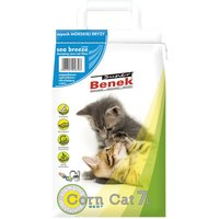 Super Benek Corn Cat Sea Breeze Clumping Litter - 7 litres (approx. 5kg)
