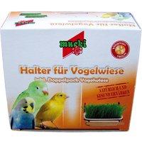 Mucki Bird Grass - 2 x Bird grass dishes with brackets