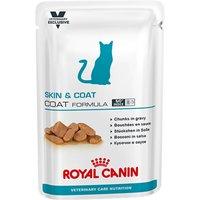 Royal Canin Vet Care Nutrition Cat - Adult Skin & Coat - 12 x 100g