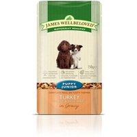 James Wellbeloved Puppy & Junior Pouches - Turkey with Rice - 10 x 150g