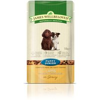 James Wellbeloved Puppy & Junior Pouches - Lamb with Rice - 10 x 150g