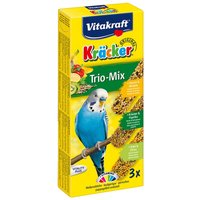 Vitakraft Budgies Crackers Trio-Mix - 3 Sticks: Sesame Seeds/Herbs/Kiwi