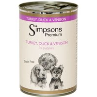 Simpsons Premium Wet Dog Food Saver Pack 12 x 400g - Adult: Certified Organic - Chicken Casserole