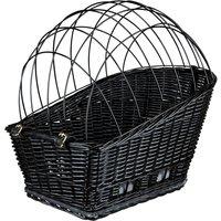 Trixie Rear-Mounted Black Bicycle Basket - 49 x 35 x 55 cm (L x W x H)